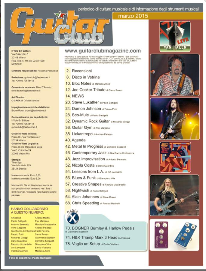 Sommario Guitar Club Magazine Marzo 2015.png